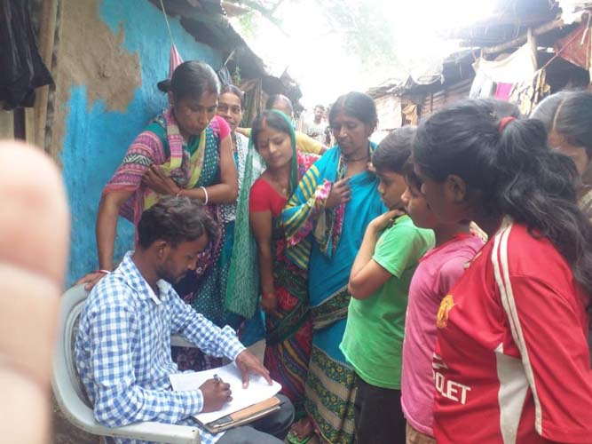 Conducting survey in the communities